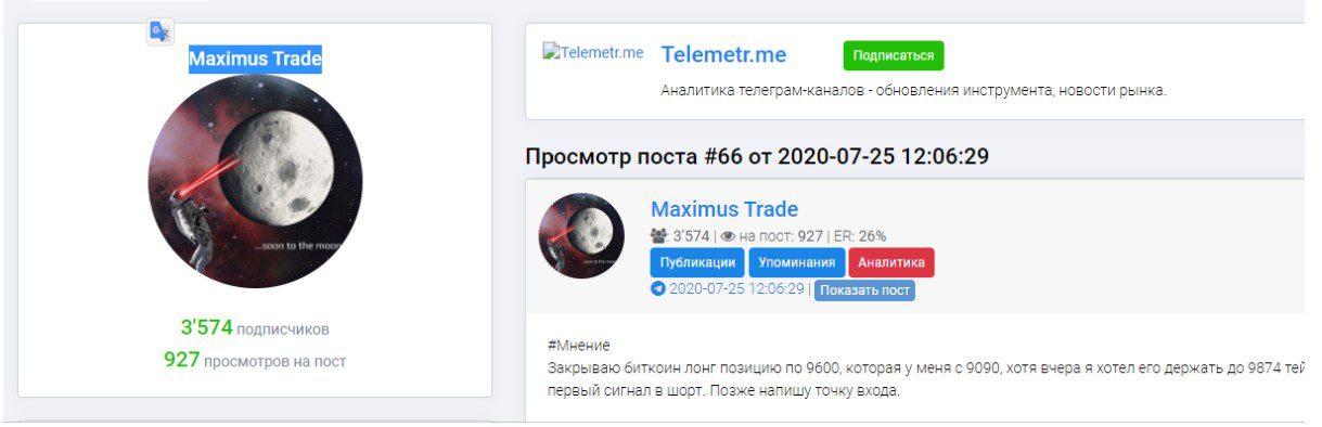 maximus trade аналитика
