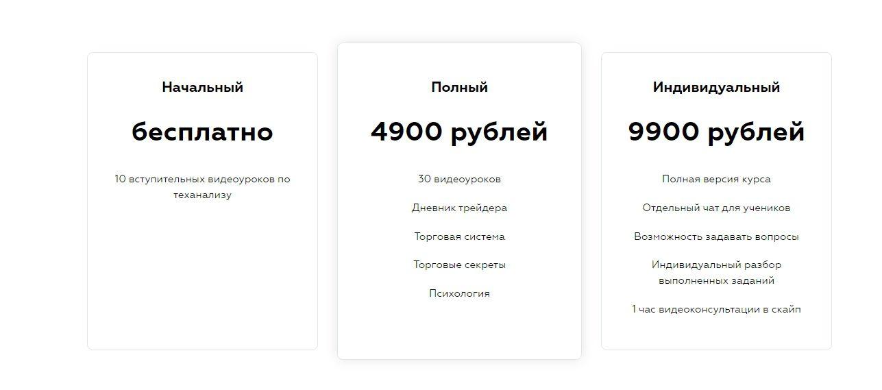 Стоимость видеоуроков Дмитрия Мамаева