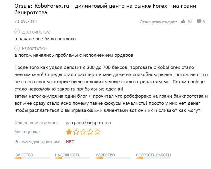 Отзывы о RoboForex