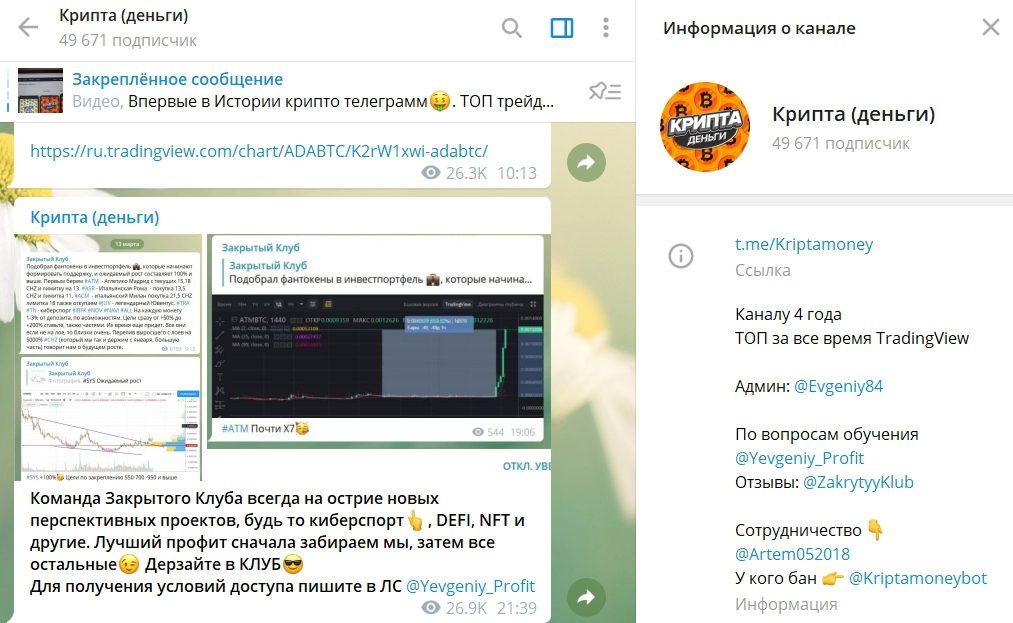 Канал Крипты в Телеграме