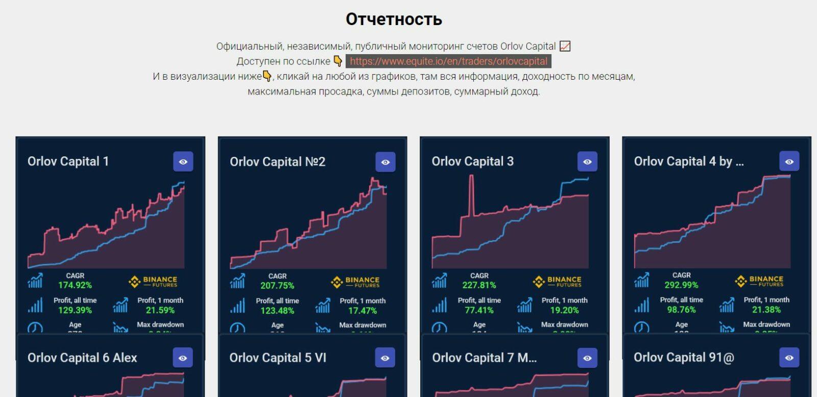 Отчетность Дмитрия Орлова