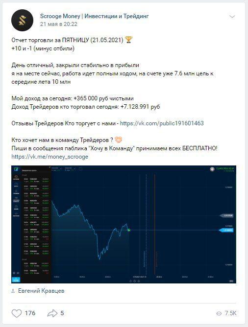 Пример постов группы ВКонтакте о Евгение Кравцева