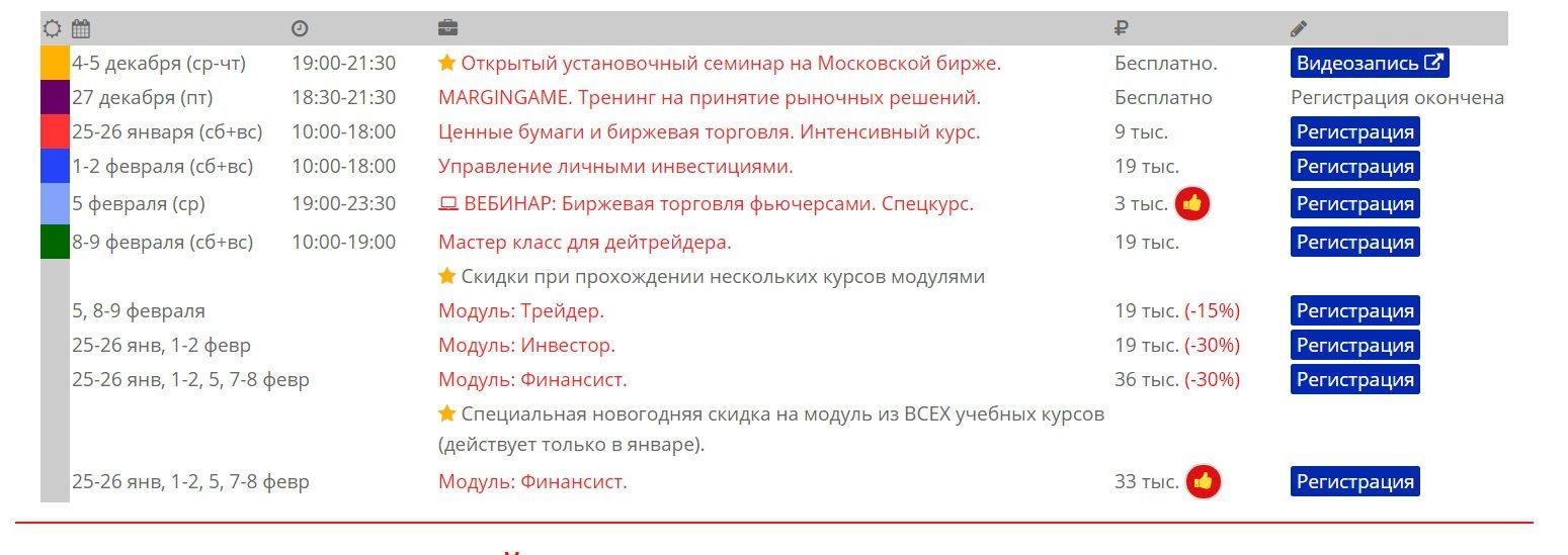 Расписание на сайте Дмитрия Сухова Plan.ru