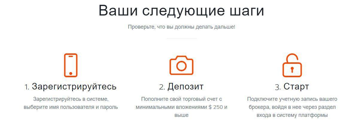 Регистрация на сайте Максима Орлова Innova Trader