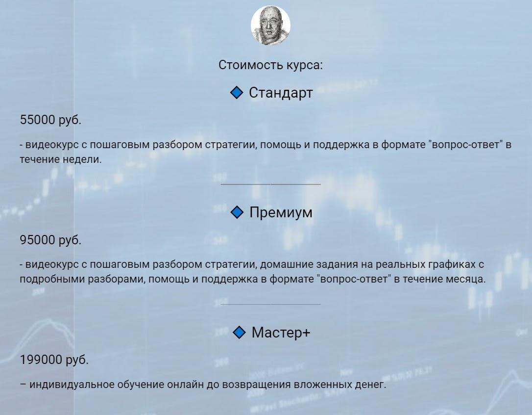 стоимость курса Евгения Питерского