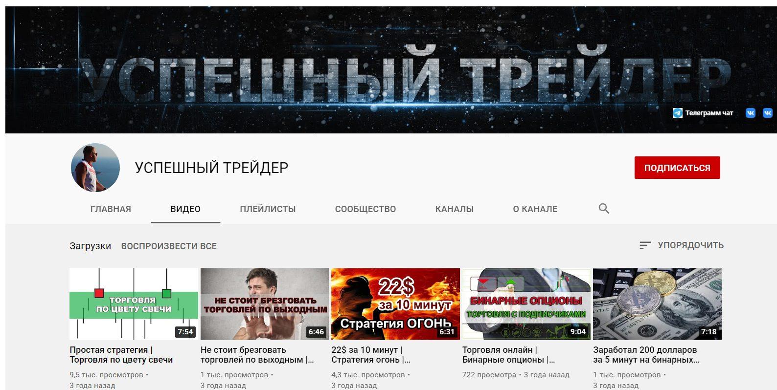Ютуб-канал Успешного трейдера