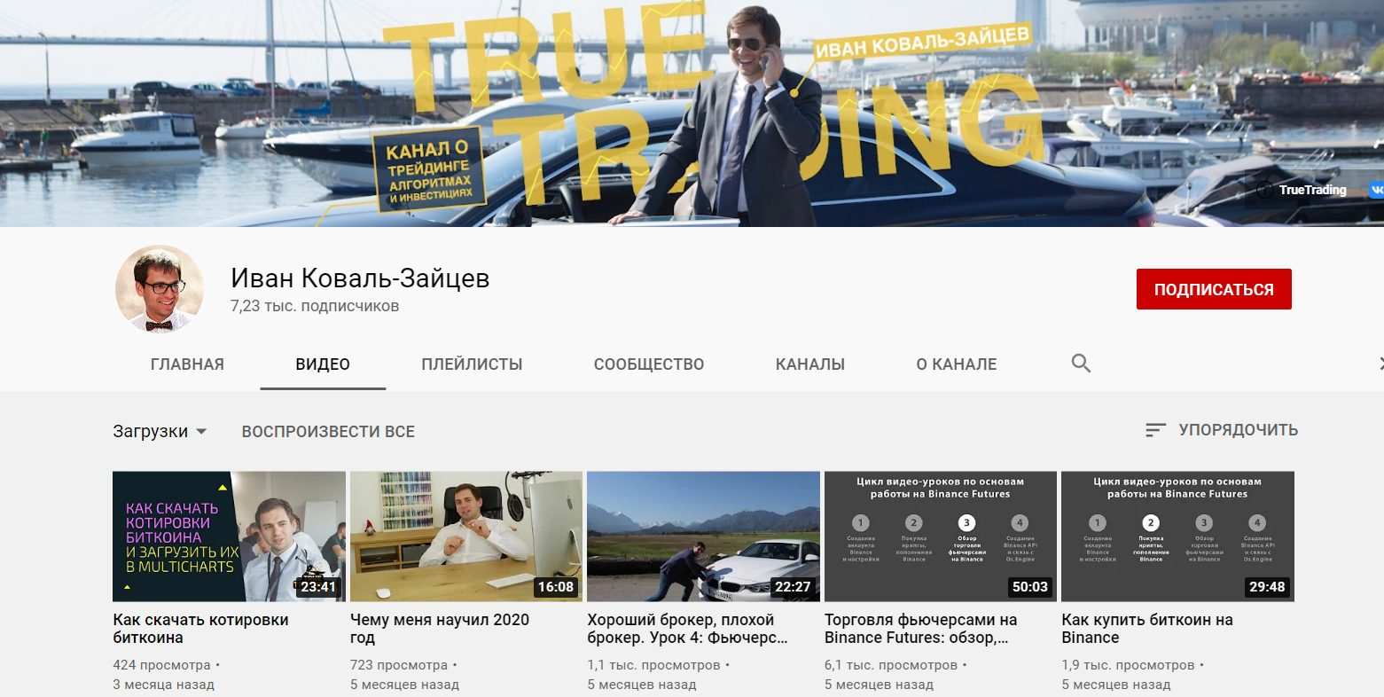 Ютуб канал Ивана Коваль-Зайцева