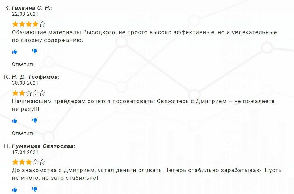Дмитрий Высоцкий отзывы