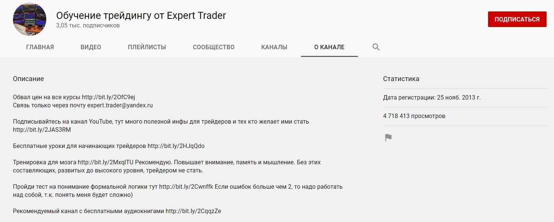 Обучение трейдингу Expert Trader