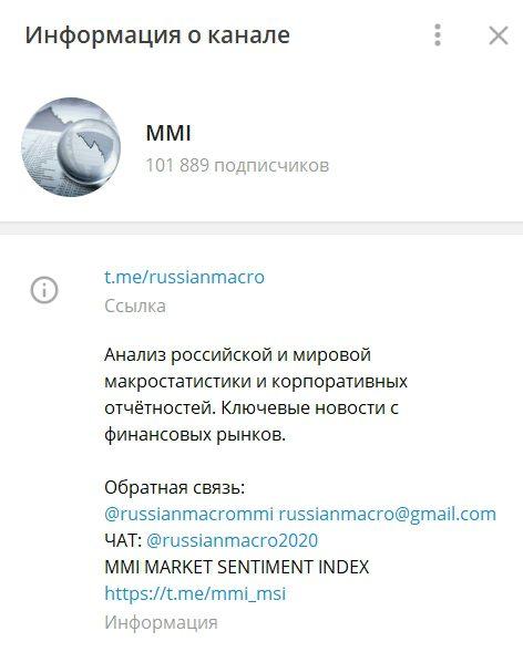 Телеграм-канал MMI Кирилла Тремасова