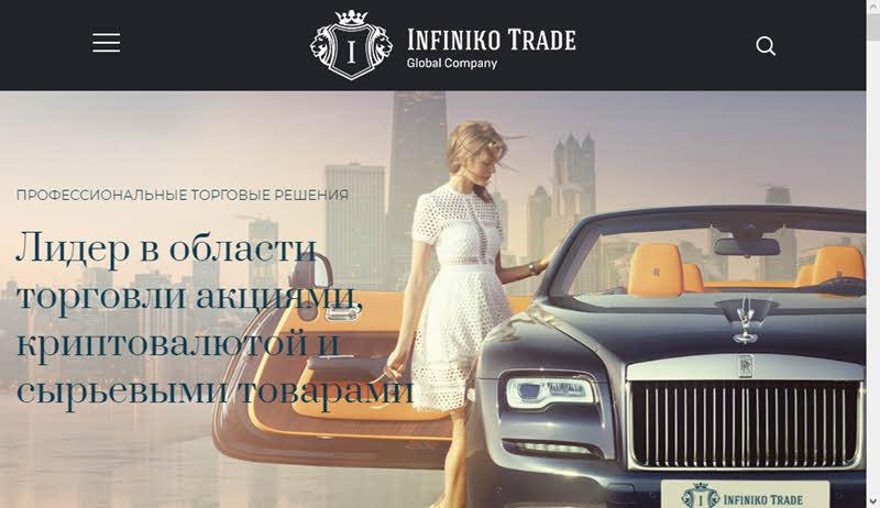 Сайт Infiniko Trade
