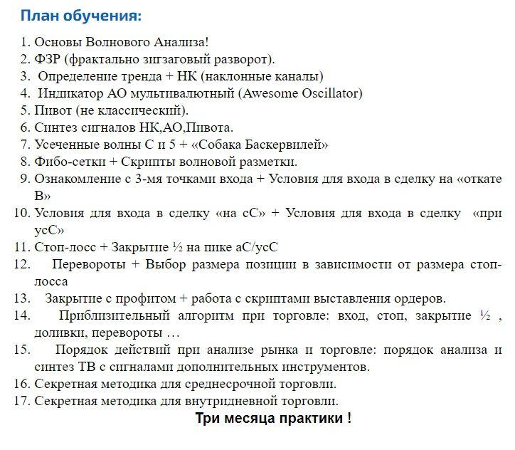 План обучения у Евгения Богураева