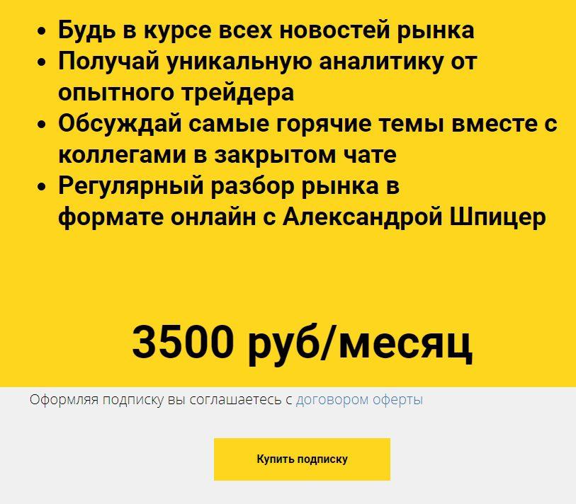 Стоимость обучения у Александры Шпицер
