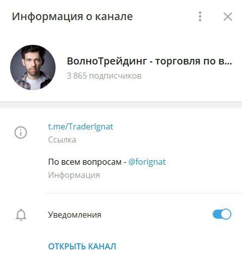Телеграмм канал Игната Борисенко