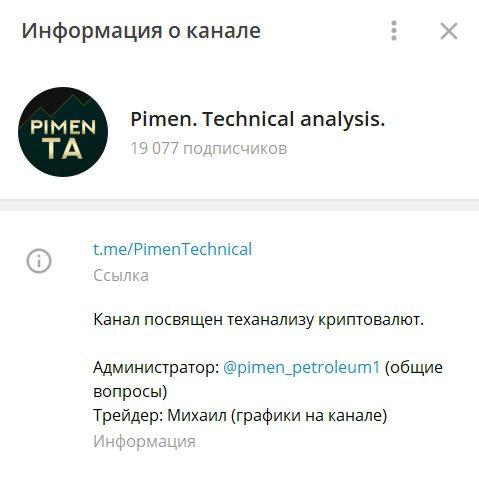 Телеграмм канал Pimen. Technical analysis