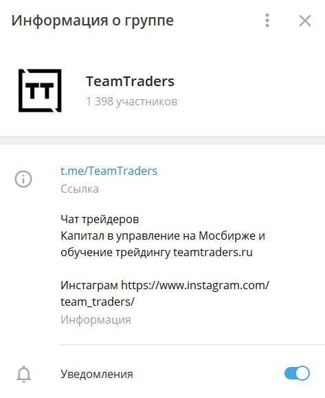 Телеграмм канал Team Traders