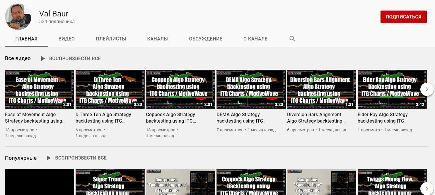 Ютуб канал Валерия Щепкина