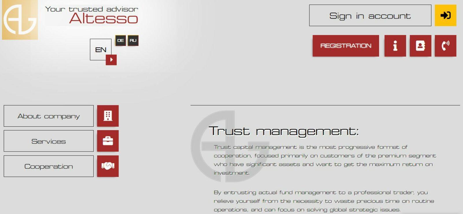 Брокерская компания Altesso.com