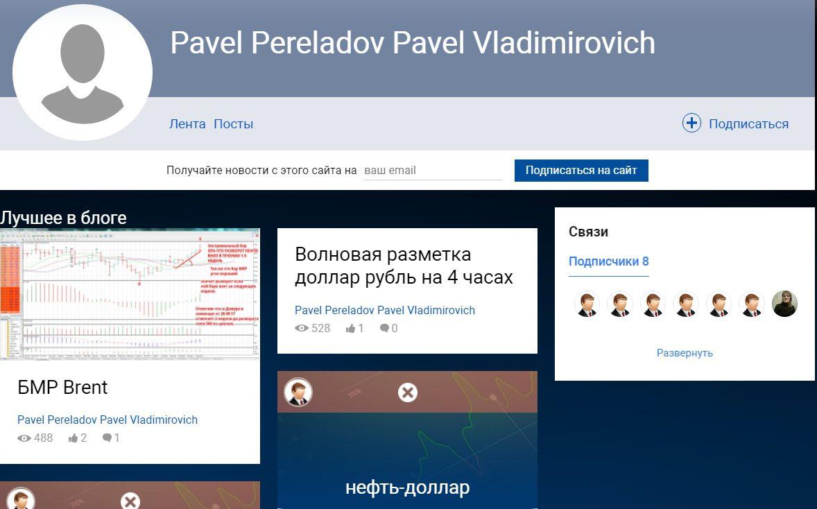Сайт трейдера Павла Переладова