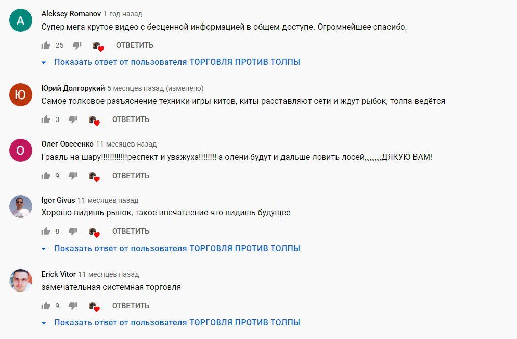 Реальные отзывы о Торговле против толпы Алексея Фомина