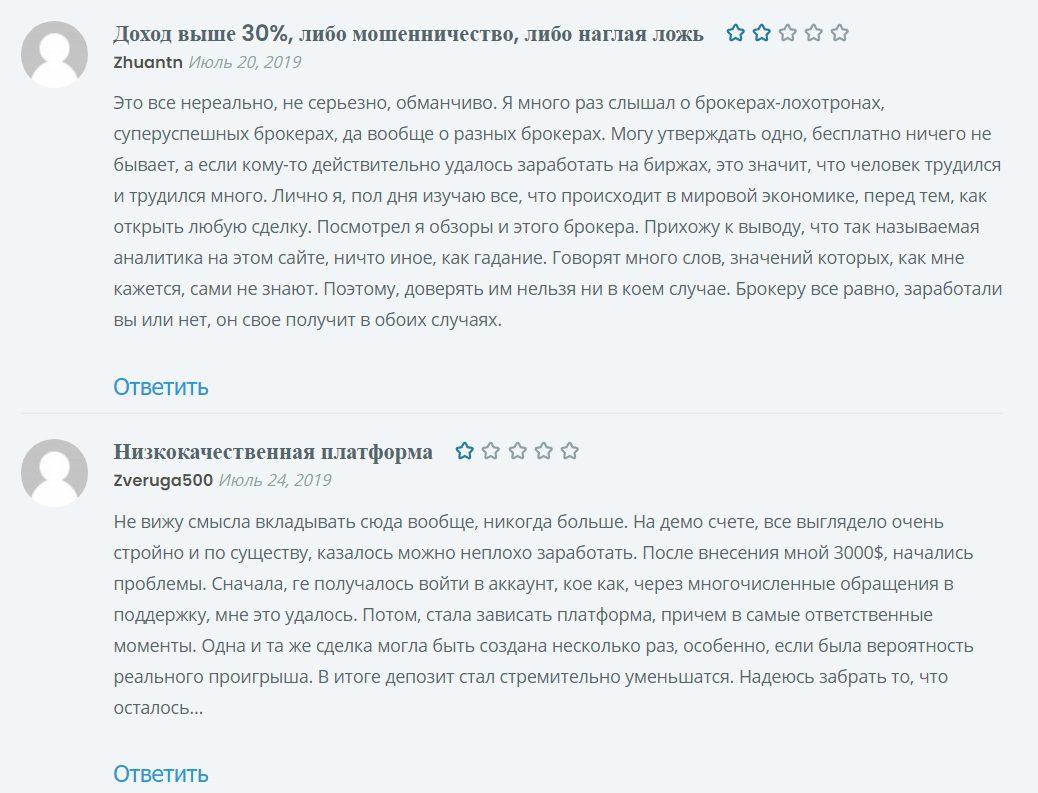 Реальные отзывы о торговой платформе Be-Trande.com
