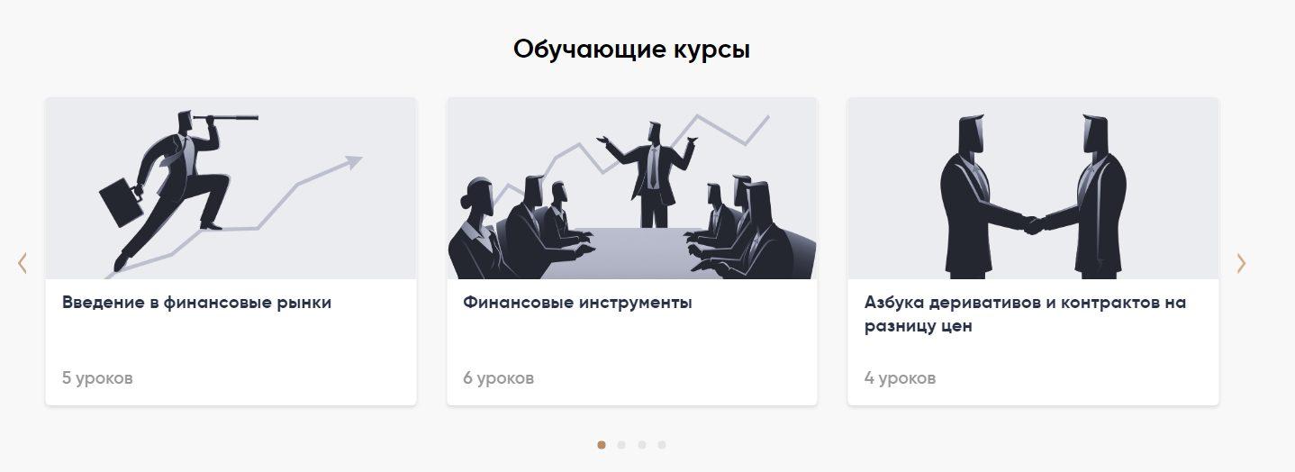 Курсы проекта Capital.com