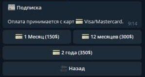 Подписки в Crypto Hamster