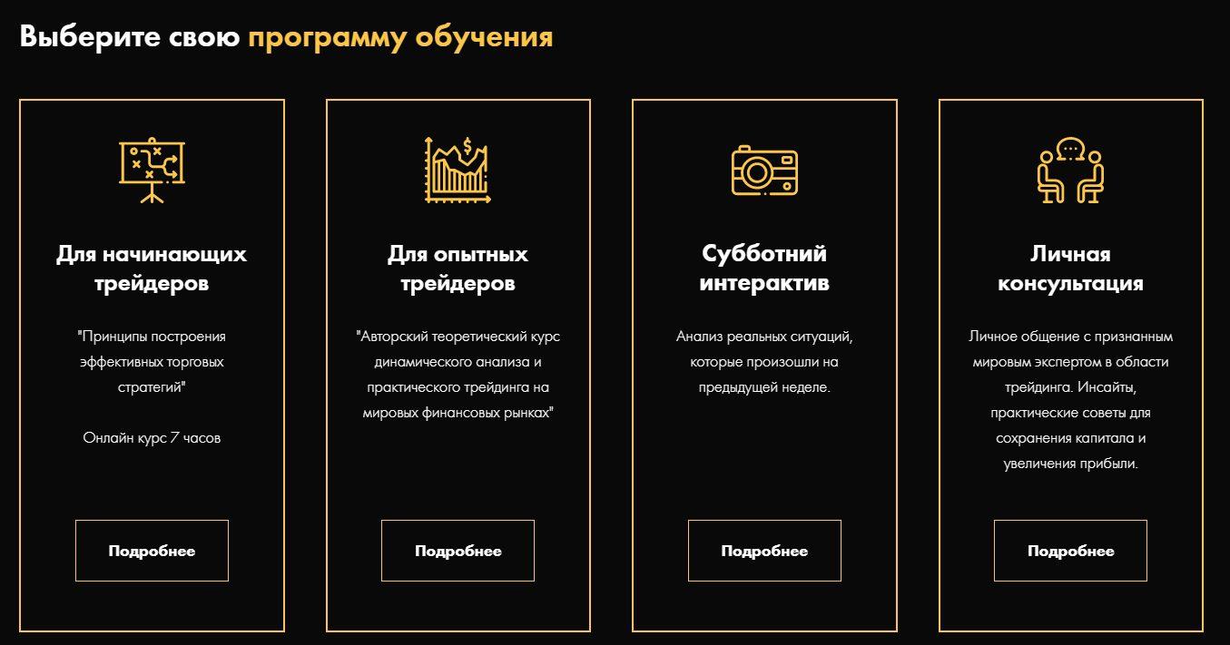 Программы обучения Игоря Тощакова