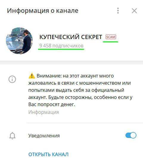 Информация о канале Купеческий Секрет