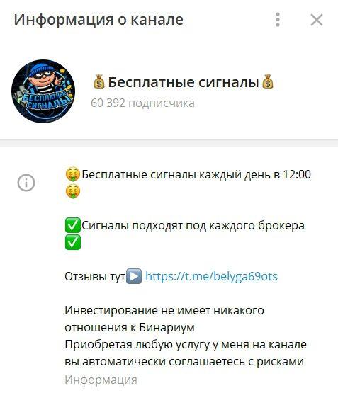 Телеграм-канал проекта Бинарные ограбления